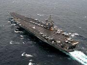 USS CVN-65 Enterprise on Atlantic Ocean