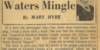 Where The Waters Mingle by Mary Hyre 4/30/67