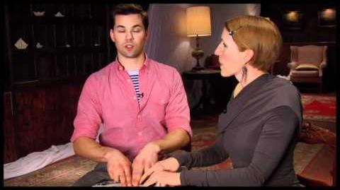 """File:Side by Side by Susan Blackwell """"The Book of Mormon"""" Star Andrew Rannells"""