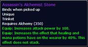 Assassin's Alchemist Stone