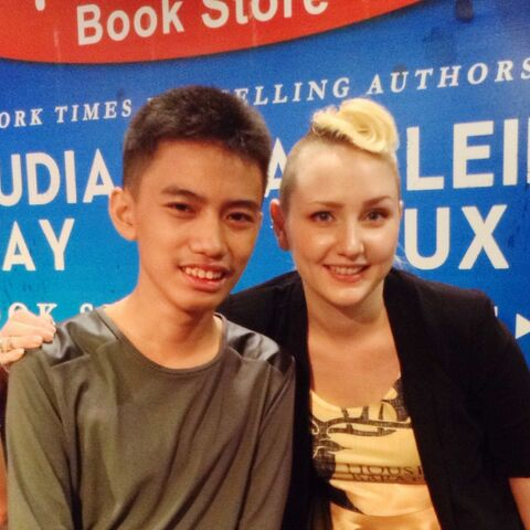 Me and the author.