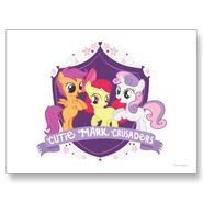 Cutie mark crusaders crest postcard-p239535897097034156envli 400