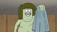 S7E28.142 Muscle Man Happily Holding His Shirt