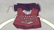 S8E23.392 Pops' Banged Up Typewriter
