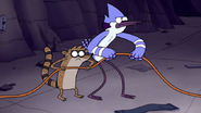 S3E34.195 Mordecai and Rigby Grabbing the Extension Cord
