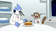 S6E27.089 Mordecai About to Cut the Sandwich