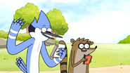 S6E17.031 Mordecai and Rigby Singing Their Birthday Song to Muscle Man 01