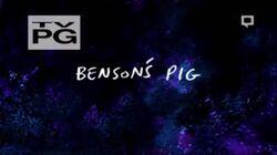 S7E13 Benson's Pig Title Card
