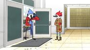S6E10.066 Mordecai Leaving the Post Office
