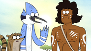 S6E13.108 Mordecai Asking Wally Tharah for the Airport