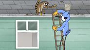 S7E19.032 Mordecai and Rigby Cleaning the Gutters