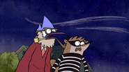 S3E04.229 Mordecai and Rigby Looking Back at the House