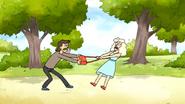 S6E18.086 A Thief Trying to Take a Woman's Purse