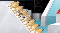 S4E20.181 The Guys Going Down the Sumo Slide