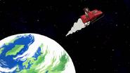 S8E23.432 Krampus Flying in Space