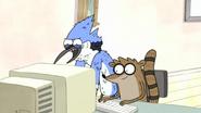 S3E25 Mordecai reading his profile page