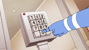 S8E16.164 Mordecai Inputing the Bed Code Numbers