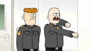 S7E32.114 Bald Dome Guard Explaining What He'll Do to an Intruder