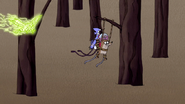 S4E32.133 Rigby Catching Onto Another Branch