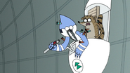 S7E05.398 Mordecai Hit with Another Knockout Dart Yet Again