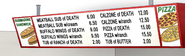 S6E26.006 Death Kwon Do Pizza and Subs Menu