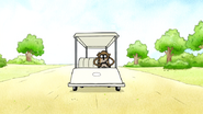 S7E21.132 Rigby Driving the Cart By Himself