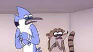 S7E10.142 Mordecai and Rigby's Reaction to Non-Party Horse