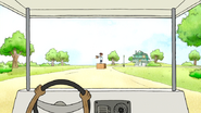 S7E21.133 Rigby Driving Towards Glasses Student