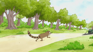 S7E24.061 Rigby Going After the Garbage Truck