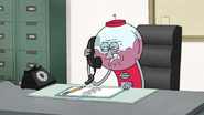 S6E13.032 Benson Receiving a Collect Call from Mordecai and Rigby