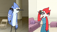S6E28.022 Mordecai and Margaret Talking on the Phone