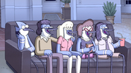 S6E01.125 Mordecai's Family Laughing