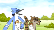 S6E27.053 Mordecai an Rigby Laughing and Eating