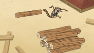 S7E06.140 Rigby Dodging all the Logs
