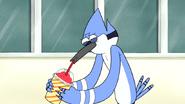 S4E26.012 Mordecai Drinking a Slushie