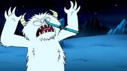 S8E23.085 Snow Monster Hit by a Ski