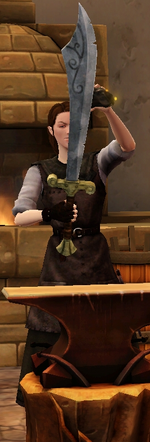 Precise scimitar sharpened by blacksmith