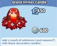 Grand Invites Candle