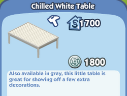 Chilled White Table