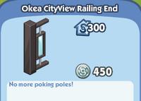 OKea CityView Railing End