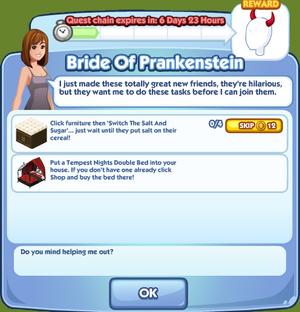 Bride Of Prankenstein quest