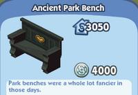 Ancient park bench