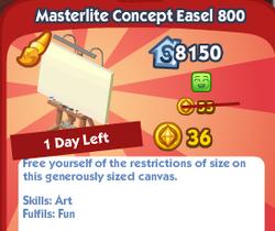 Masterlite Concept Easel 800