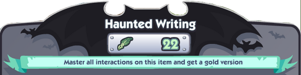 Haunted Writing Banner