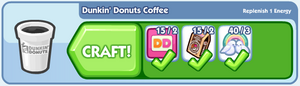 Dunkin' Donuts Coffee Boost Craft Bar