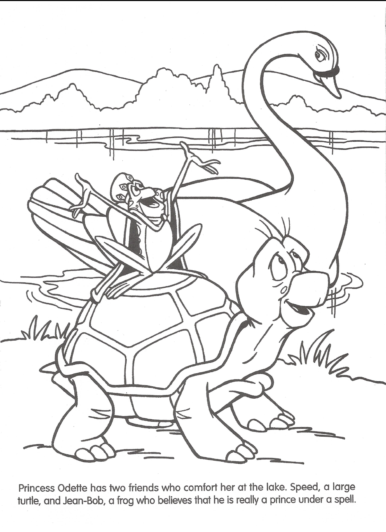 Swan princess coloring pages free - Swan Princess Coloring Pages Images Evil Queen The