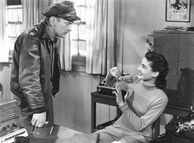 Hendry and Nikki in the office - The Thing (1951)