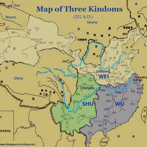 <center>Map of Three Kingdoms (Chinese/English)</center>