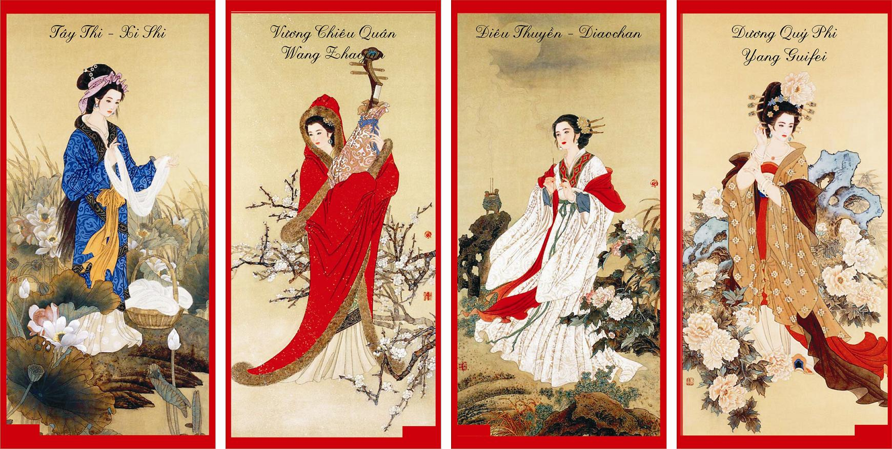 image   four great chinese beauties   gongjin s
