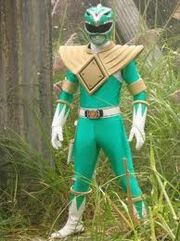A green mighty morphin